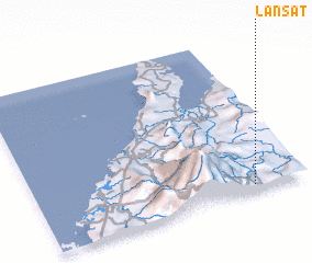 3d view of Lansat