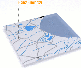 3d view of Hanzhuangzi