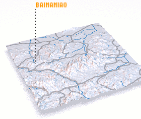 3d view of Baimamiao