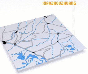 3d view of Xiaozhouzhuang