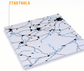 3d view of Stadtwald