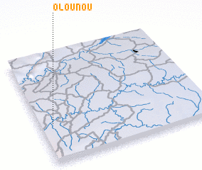 3d view of Olounou