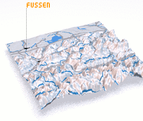3d view of Fussen