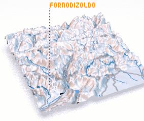 3d view of Forno di Zoldo