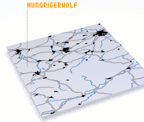3d view of Hungriger Wolf