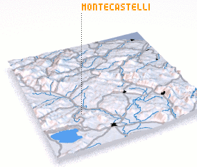 3d view of Monte Castelli
