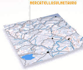 3d view of Mercatello sul Metauro