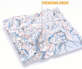 3d view of Pieve d'Alpago