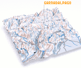 3d view of Garna d'Alpago