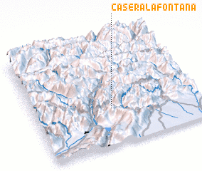 3d view of Casera la Fontana
