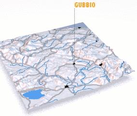 Gubbio Italy Map Nona Net