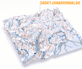 3d view of Sankt Johann im Walde