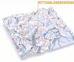 3d view of Mittewald an der Drau