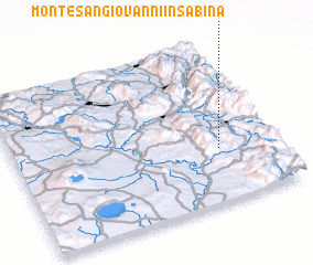 3d view of Monte San Giovanni in Sabina