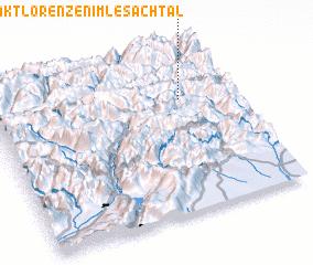 3d view of Sankt Lorenzen im Lesachtal