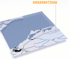 3d view of Nieder Mützkow