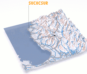 3d view of Sucoc Sur