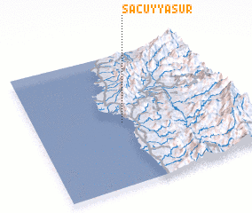 3d view of Sacuyya Sur