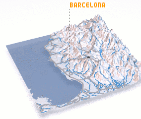 3d view of Barcelona
