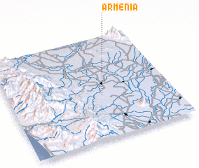 3d view of Armenia