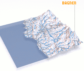 3d view of Bagnen