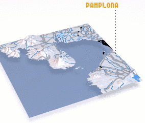 3d view of Pamplona
