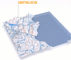 3d view of Santa Lucia