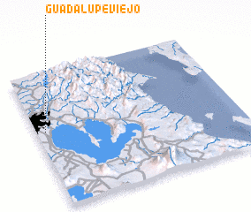 3d view of Guadalupe Viejo