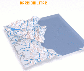 3d view of Barrio Militar