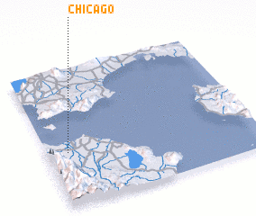 3d view of Chicago