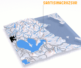 3d view of Santisima Cruz Sur