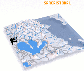 3d view of San Cristobal