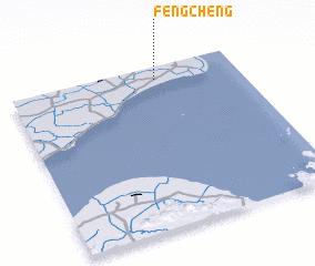 Fengcheng China Map Nonanet - Fengcheng map
