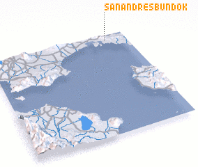 3d view of San Andres Bundok