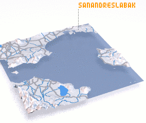 3d view of San Andres Labak
