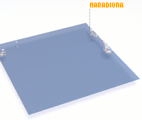 3d view of Maradiona