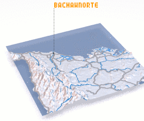 3d view of Bachaw Norte