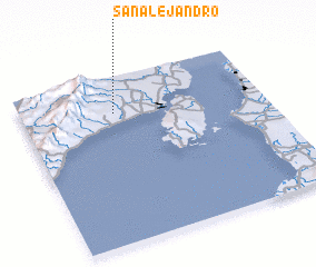 3d view of San Alejandro