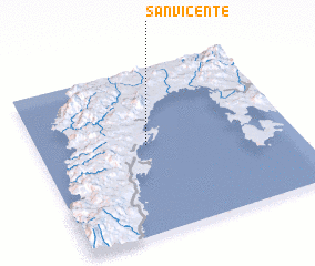 3d view of San Vicente