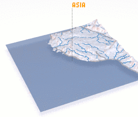 3d view of Asia