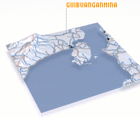 3d view of Guibuañgan-Mina
