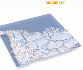 3d view of San Andres
