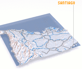 3d view of Santiago