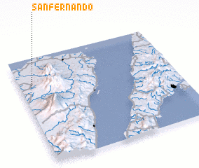 3d view of San Fernando