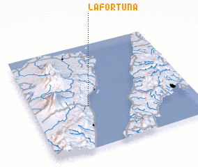 3d view of La Fortuna