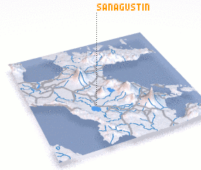 3d view of San Agustin