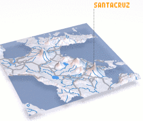 3d view of Santa Cruz