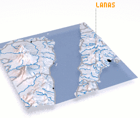 3d view of Lanas