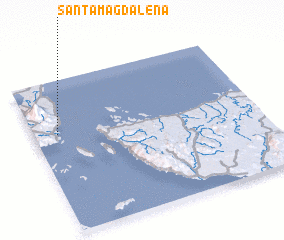 3d view of Santa Magdalena