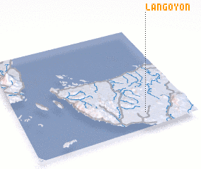 3d view of Lañgoyon